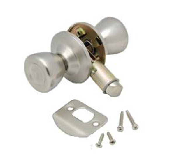 INTERIOR PASSAGE KNOB - STAINLESS STEEL