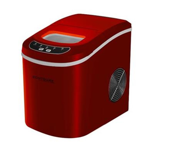 PORTABLE ICE MAKER, RED,
