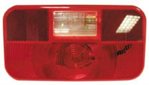 Peterson Trailer Light Lens Snap-On; With Back-Up Light Lens
