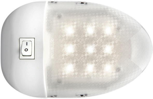 Optronics RVILL33 RV Camper LED Interior Dome Light Single White Clear Switch