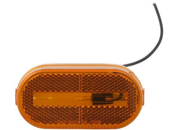 Optronics MC38AB Trailer Clearance Marker Light Reflector Amber Oval Single Wire
