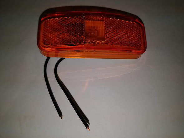 Amber Surface Mt. Clearance Marker Light Reflex 2-wire RV Camper Trailer MC44AB