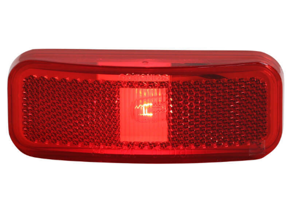Red Surface Mount Clearance Marker Light Reflex 2-wire RV Camper Trailer MC44RB
