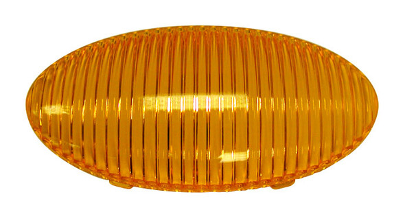 Optronics APL5AB Oval Porch Light Amber Lens 383-25A RV Boat Camper Trailer M382