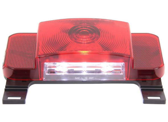Optronics RVSTLB0061 LED Red Black Rect. Tail Light Camper Trailer License Plate