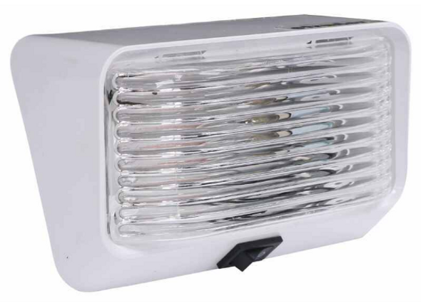 Optronics RVPL3C White Clear Utility Porch Light Switch Camper Trailer 12v Rect.