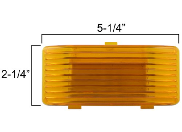 Optronics APL1AB RV Camper Trailer Boat Porch Utility Light Lens Amber Rectangul