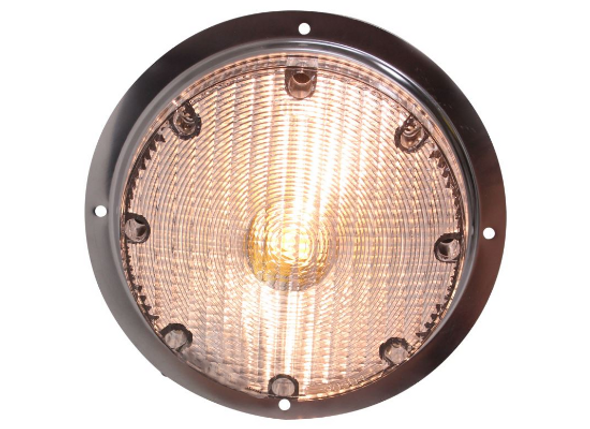 Optronics RVSL21 RV Camper Round Scare Light 12v Indoor Outdoor Stainless Steel