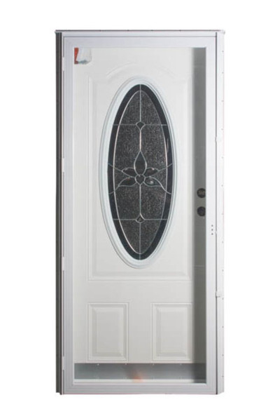 Combination Exterior 3/4 Oval Door and All Glass Storm