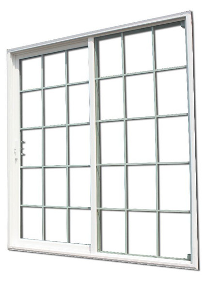 Sliding Glass Patio Door With 15/15 Grids