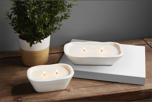 White Bowl Candle