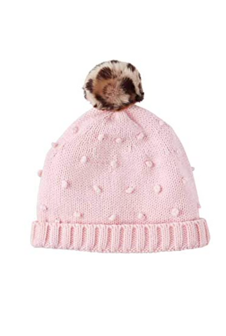 toddler puff knit hat