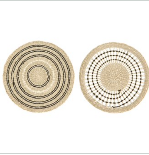 Seagrass placemats s/4 blk