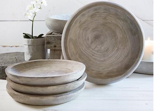 Paulownia Wood Tray- Grey