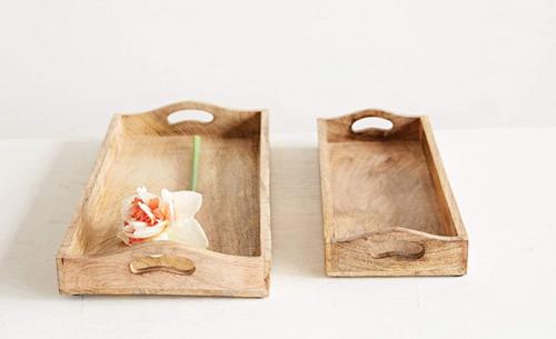 Wood Rectangle Tray