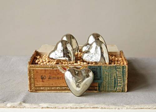 Mercury Glass Heart