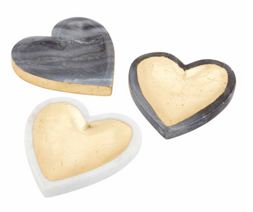 Marble Foil Heart Tray