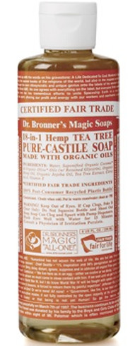 Dr. Bronner's Flytende Såpe Tea Tree, 240 ml