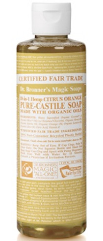 Dr. Bronner's Flytende Såpe Citrus Orange, 240 ml