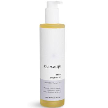 Karmameju MILD Body Oil er en naturlig og vegansk kroppsolje næringsgivende og beroligende for alle hudtyper