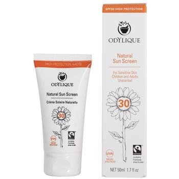 Odylique Naturlig Solkrem SPF30 er laget av 100% naturlige ingredienser. Den er vegan, sertifisert økologisk og fairtrade! Den passer fint til sensitiv hud, kan brukes av hele familien inkludert de minste av oss. Kan brukes på ansikt og kropp.