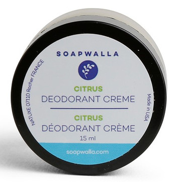Soapwalla Deodorant m/sitrus og vanilje, 15 ml