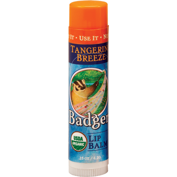 Badger Tangerine Breeze Lip Balm, 4.2 gr