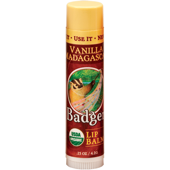 Badger Vanilla Madagascar Lip Balm, 4.2 gr