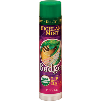 Badger Highland Mint Lip Balm, 4.2 gr