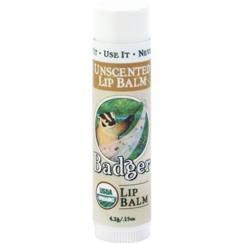 Badger Unscented Lip Balm, 4.2 gr