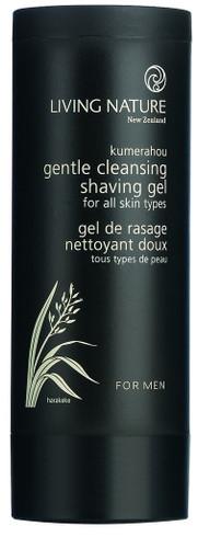 Living Nature Gentle Cleansing Shaving Gel, 100 ml