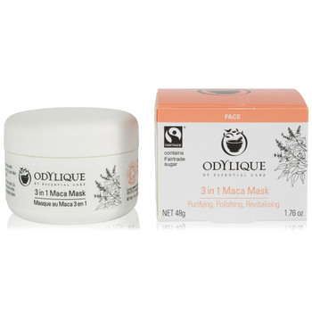 Odylique 3-i-1 Maca Mask er godt egnet for alle hudtyper - også sensitiv hud. Masken er perfekt for å rense huden og gi nytt liv til livløs hud.