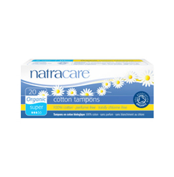 Natracare Tampong u/hylse Super, 20 pk