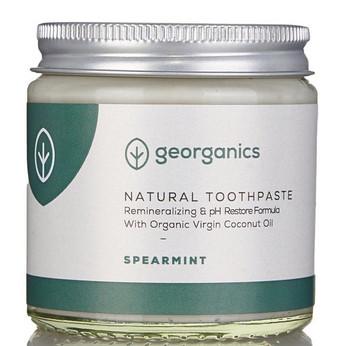Georganics Naturlig Tannkrem uten fluor, Spearmint 120 ml