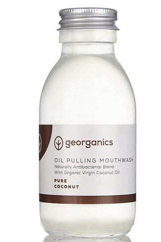 Georganics Oil Pulling Munnskyll, Pure Coconut 100 ml