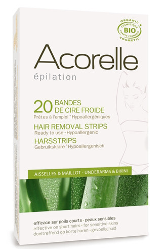 Acorelle Cold Wax Hair Removal Strips for armhuler & bikinilinje
