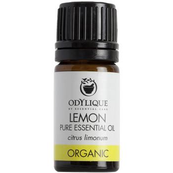 Odylique essensiell olje Sitron en oppløftende tonic når den pustes inn. Har gode egenskaper for fet hud, vorter, fotsopp, infeksjoner og dårlig blodsirkulasjon. En natulirg rensende agent for rengjøring. Ikke bruk den ublandet på huden før du skal ut i solen.  Sertifisert økologisk av Soil Association