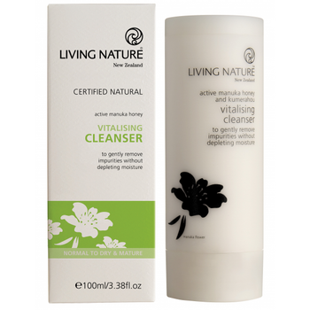 Living Nature Vitalising Cleanser/nedsatt pga. dato, 100 ml