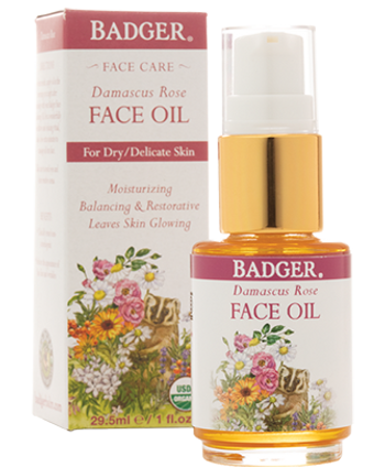 Badger Damascus Rose Face Oil, 29.5 ml