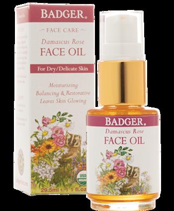 Badger Damascus Rose Face Oil, 29.5 ml