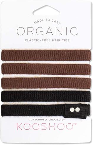 Kooshoo Hårstrikk uten plast sort og brun, 5-pack