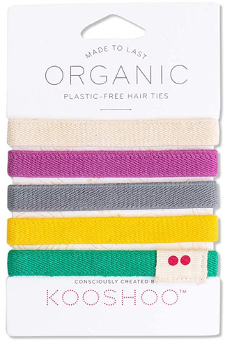 Kooshoo Hårstrikk uten plast med farger, 5-pack