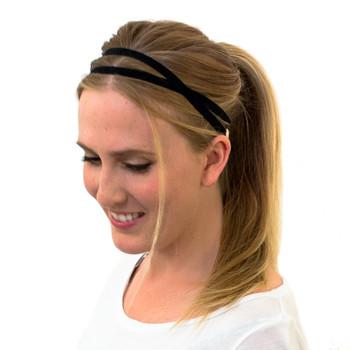 Kooshoo Aurea Økologisk hårbånd uten plast, sort