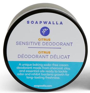 Soapwalla Deodorant Sensitive m/citrus, 57 gr
