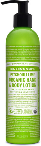 Dr. Bronner's Body Lotion Patchouli Lime, 237 ml