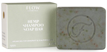 Flow Hemp & Peat Shampoo Bar for problematisk hodebunn, 120 gr