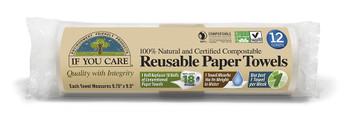 gjenbruksbare tørkepapir er laget av cellulose og non-GMO ubleket bomull blandet med et naturlig mineralsalt