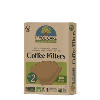 If You Care Ubleket Kaffefilter, 100 filter nr. 2