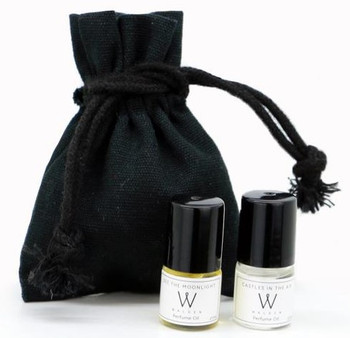Walden Perfume Oil Sample set 7x 2ml, Rollerballs pouch