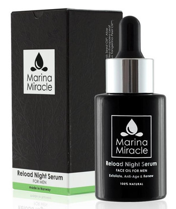 Marina Miracle Reload Night Serum for menn, 28 ml